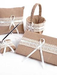 Lace Linen Wedding Collection Set (4 pieces)