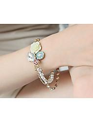 Cotingbo Women's Flower Diamond Pearl  Bracelet