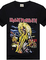 ROCKSIR®Men's Round Collar Iron Maiden Print T-shirt