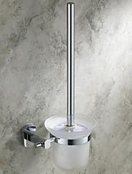 Acabamento cromado banheiro Acessó Latão WC Escova Titular