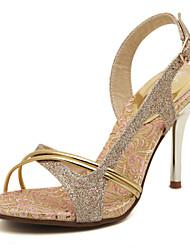 Damen-Sandalen-Kleid-Kunstleder-Stöckelabsatz-Andere-Gold