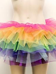 Dancewear Damenregenbogen Netz Tutu Röcke