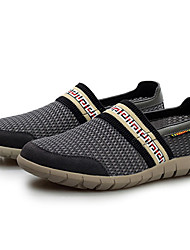 Kamanu Men's British Breathable Mesh Casual Lazy Shoes (Blue,Black,Brown)