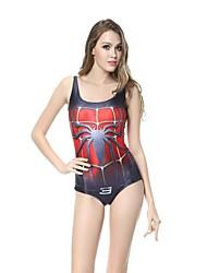 Femme O-Cou Spider Man Imprimer une seule pièce tricotée maillot de bain