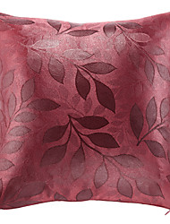 Country Rosy Leaves Polyester Decorative Pillow Cover