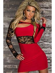 Vivienne Women's Eurorean Style Sexy Packet Hip Lace Dress