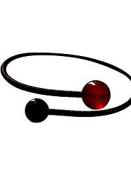 Agate rouge Bracelet manchette Classic Couple frais 22cm femmes (1 PC)