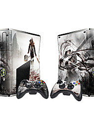 XBOX360 Slim Console Sticker with 2pcs Controller Sticker