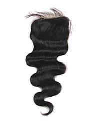 Haute Qualité cheveux brésilien dentelle Fermeture Carrosserie vague 18Inch En stock