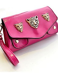AIKELIWEI Frauen Three Little Leopard Heads-Handtasche (Screen Color)