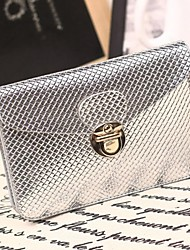 Women's Mini Fashion PU Leahter Clutch Shoulder Bags Wallet  for Mobile Phone