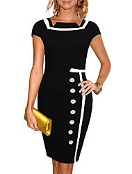 senhora celeb marinha marinheiro negro pinup náutico retro do vintage vestido lápis das mulheres das mulheres