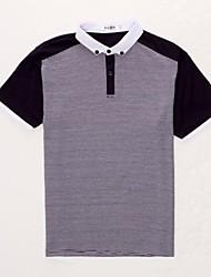 Casual de manga curta T-shirt T-shirt cor sólida dos homens Celucasn Magro