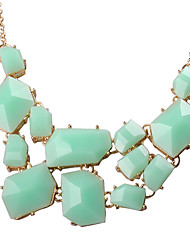 JANE STONE Cham Fashion Korean Necklace (Green)