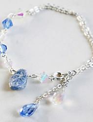 Frozen Elsa Queen Ice World Blue Gemstone Bracelet Cosplay Accessory