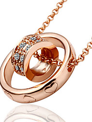 Necklace Pendant Necklaces Jewelry Wedding / Party / Daily Fashion Alloy / Rhinestone / Gold Plated / Rose Gold Plated Gold / Rose Gold