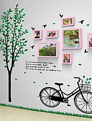 Pink Photo Frame Set of 7 with Wall Sticker