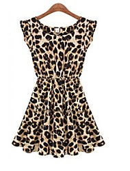 The One & Only Women's  Sleevelesss Round Neck Leopard Bodycon Dress F402723025