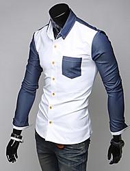 Glory Shirt Collar Long Sleeve Splicing Shirt