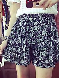 YiFanYiGui ™ Damen-elastische Taille Blumendruck Chiffon-Rock
