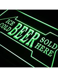S148 Ice Cold Beer Vendido Aquí Bar Pub Luz Neon Sign