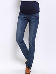Maternity Casual Jeans Pants , Cotton Micro-elastic