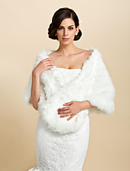 Fur Wraps / Wedding  Wraps Shawls Faux Fur White Wedding / Party/Evening