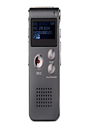 Co-crea 16GB 650hr Digital Voice Recorder with MP3 WMA (Gray)