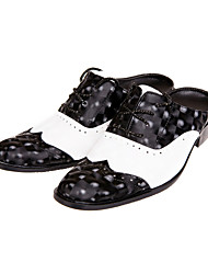 Men's Shoes Wedding/Party & Evening Leather Clogs & Mules Black/White