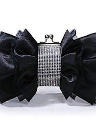 Vizon Women's New Fasian Formal Floral Rosette Organza Wedding Clutche Bag/Evening Bag