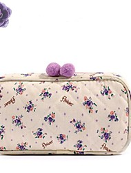 High Quality New Japan Floral Cosmetic Bags Canvas Hair Bulb Zipper Wash Bags Makeup Bags