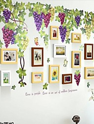 3 colori Photo Frame set di 12 con Wall Sticker