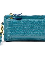 Women 's de alta calidad de la manera del cuero genuino de la carpeta del bolso Ladie Embragues