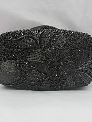 Women's Flower Design Diamond Evening Box Bag