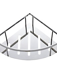 Contemporary Polished Stainless Steel Bathroom Basket  Holder Shelf Bathroom Accessories