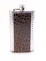 Hip Serpentine 7 Oz Aço inoxidável Hip Flask Homens com usuários militar é Flask Hip