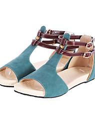 Women's Flat Heel T-Strap Sandals Shoes(More Colors)