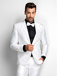 White Polyester Standard Fit Two-Piece Tuxedo