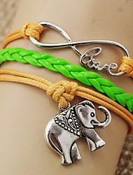 elefante 8 forma pulsera shixin® abrigo amor de la vendimia (1 unidad)