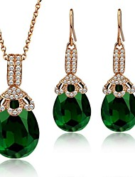 Wedding / Party / Daily-Necklaces / Earrings(Gold Plated)