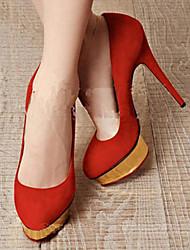 Платформа каблуки красный пион Женские