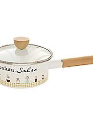 2.5 QT émail casseroles avec mitigeur, L16cm x W16cm x H12.5cm