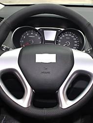 Xuji ™ Noir Housse Volant en cuir véritable de roue pour Hyundai ix35