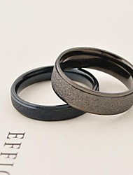 European Scrub Titanium Steel Couple Rings Promis rings for couples