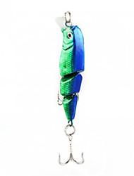 6.5CM 6G нескольких Объединенная 3 Разделы синий + зеленый Bass Fishing Приманка