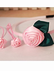 Mädchen Rose Haarband Haar-Seil (1 Hearband, 2 Haargummis)