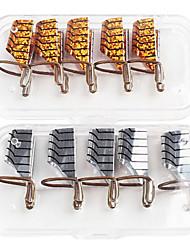 5PCS Mixed unhas Formas cor alumínio Decorações Nail Art (cor aleatória)