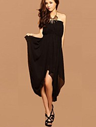 Women's Asymmetrical Chiffon Tube Dress