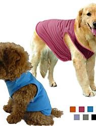 Hunde T-shirt Orange / Grün / Blau / Purpur / Schwarz / Grau / Rose Hundekleidung Frühling/Herbst einfarbig