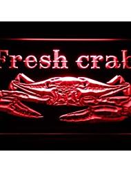 m102 Fresh Crab Restaurant luz de neón